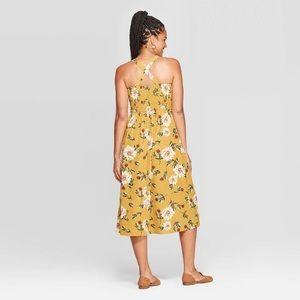 Xhilaration Dresses - NWT Yellow Floral Sleeveless Square Neck Midi